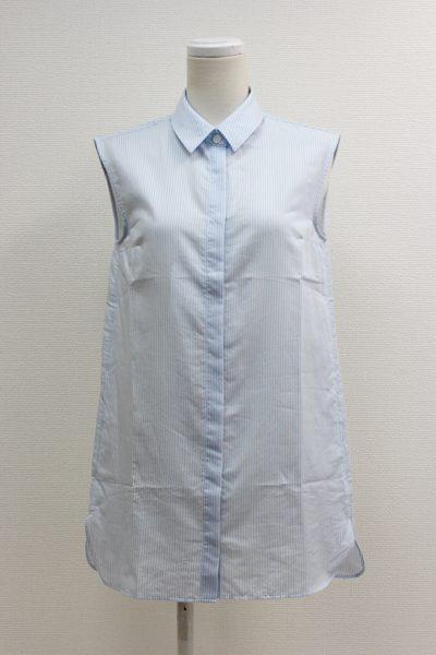 Acne Studios 【40%OFF】コットンノースリーブストライプロングシャツ