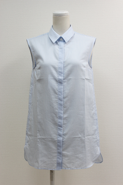 Acne Studios 【70%OFF】コットンノースリーブストライプロングシャツ