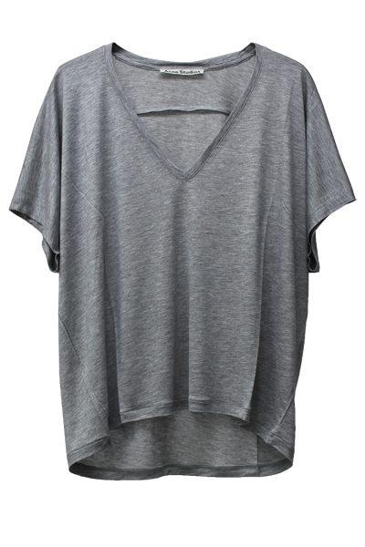 ACNE Vネック半袖カットソー