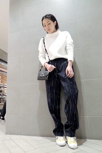 DEMYLEE 【40%OFF】コットンリブボトルネック長袖ニット