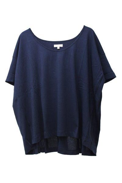 DEMYLEE コットンバックタックワイドTシャツ