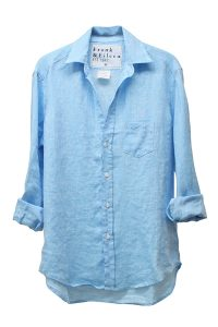 FRANK & EILEEN 【TIME SALE - 70%OFF】リネン長袖シャツ - LIGHT BLUE [EILEEN]