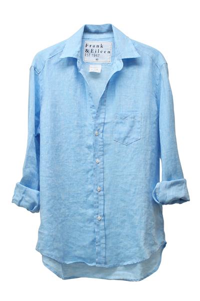 FRANK & EILEEN リネン長袖シャツ - LIGHT BLUE [EILEEN]