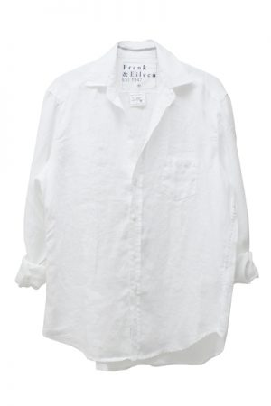 FRANK & EILEEN 【TIME SALE-50%OFF(5/24~5/28)】リネン長袖シャツ - WHITE [EILEEN]