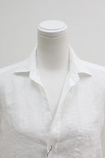 FRANK & EILEEN リネン長袖シャツ - WHITE [EILEEN]