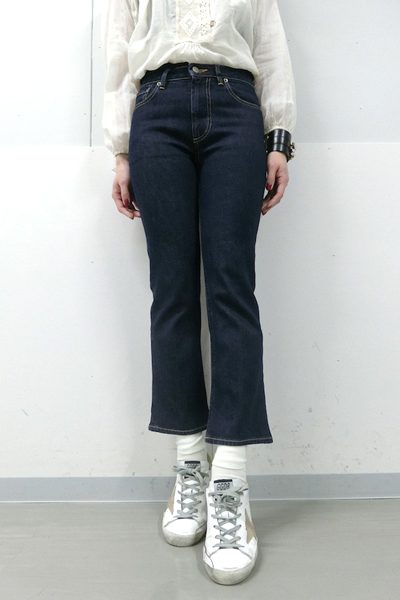 GOLDEN GOOSE DELUXE BRAND インディゴ8分丈デニム(FUNNY CROPPED FLARE)