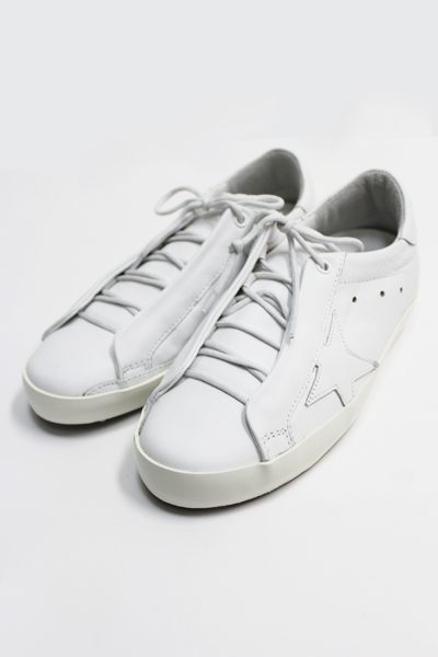 GOLDEN GOOSE DELUXE BRAND レザーローカットスニーカー[SUPERSTAR / WHITE SMOCK] (LADIE'S)