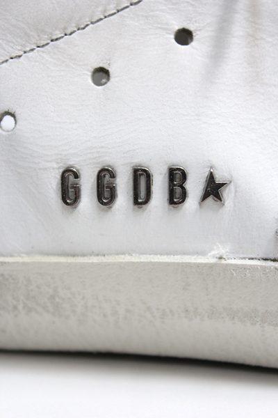 GOLDEN GOOSE DELUXE BRAND バックシルバーレザーローカットスニーカー[SUPERSTAR / WHITE/SILVER LETTERING] (LADIE'S)