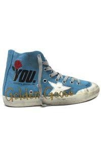 GOLDEN GOOSE DELUXE BRAND ペイントキャンバスハイカットスニーカー[FRANCY / LIGHT BLUE CANVAS /GOLD GLITTER] (LADIE'S)
