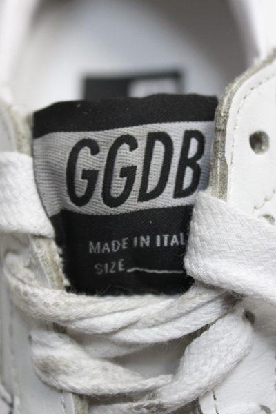 GOLDEN GOOSE DELUXE BRAND バックロゴスタッズローカットスニーカー [BALLSTAR / WHITE LAK]