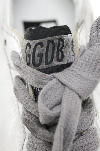 GOLDEN GOOSE DELUXE BRAND バックロゴスタッズローカットスニーカー [BALLSTAR / SILVER/WHITE STAR]  (LADIE'S)