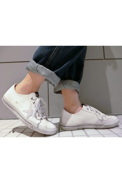 GOLDEN GOOSE DELUXE BRAND キャンバスローカットスニーカー[V-STAR/ WHITE CANVAS ] (LADIE'S)
