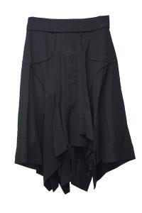 ISABEL MARANT 【40%OFF】シルクランダムカットヘムひざ丈スカート