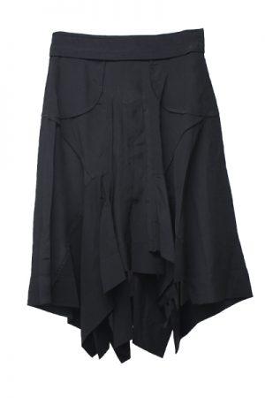 ISABEL MARANT シルクランダムカットヘムひざ丈スカート