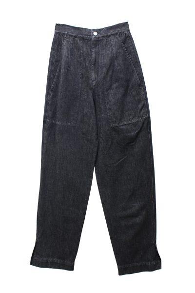 ISABEL MARANT 【40%OFF】ブラックデニム裾スリットワイドパンツ