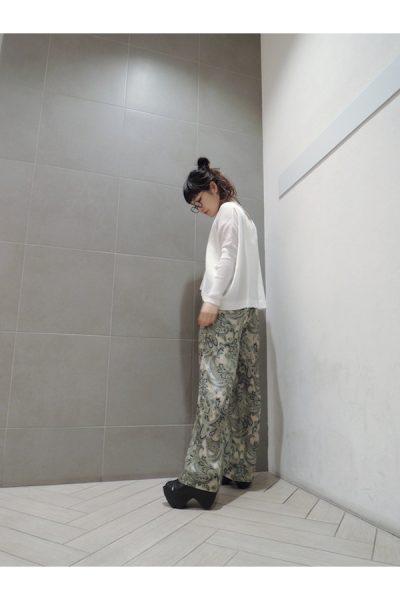 lot egg 【40%OFF】リブVネック長袖ワイドトップス