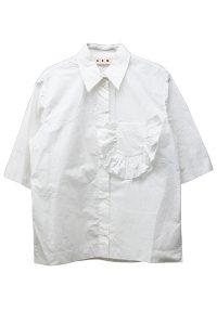 MARNI 【40%OFF】ポケットフリル半袖シャツ