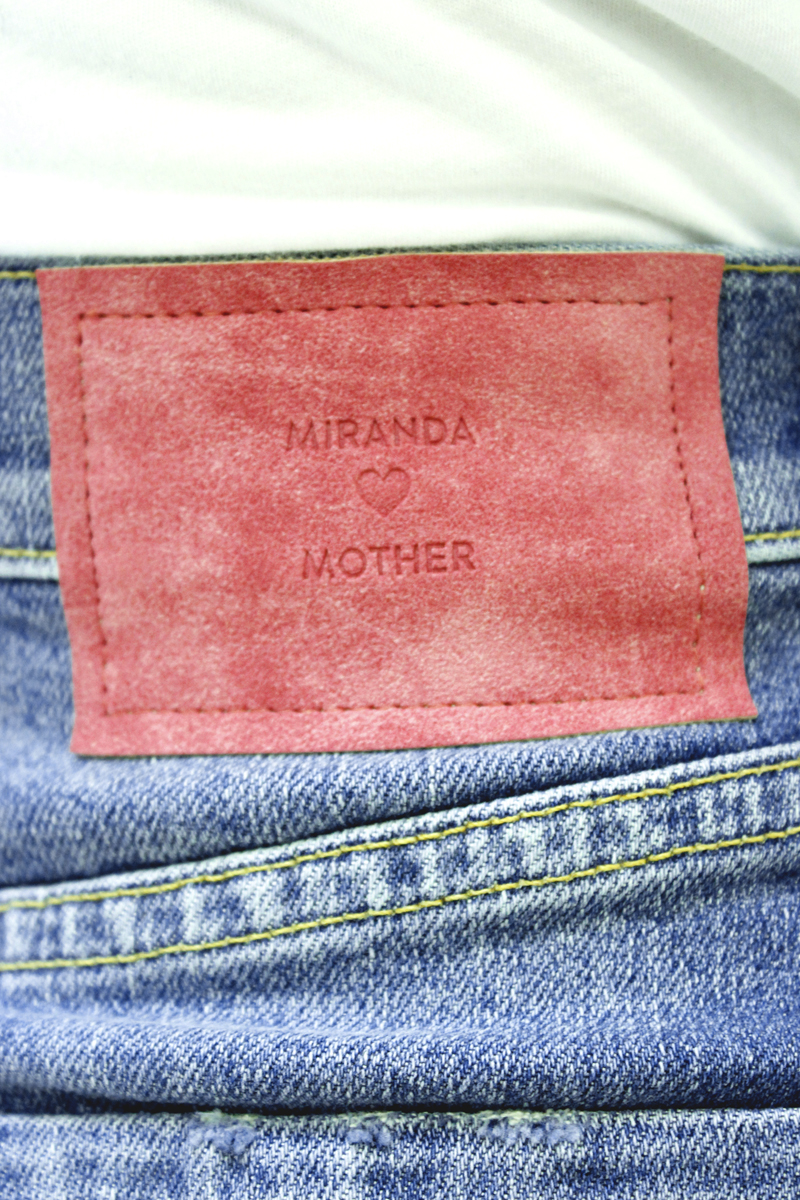 MOTHER デニムフロントボタンミニスカート