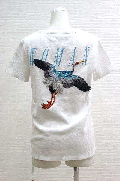 OFF-WHITE 【50%OFF】バックバード刺繍SOS  Tシャツ