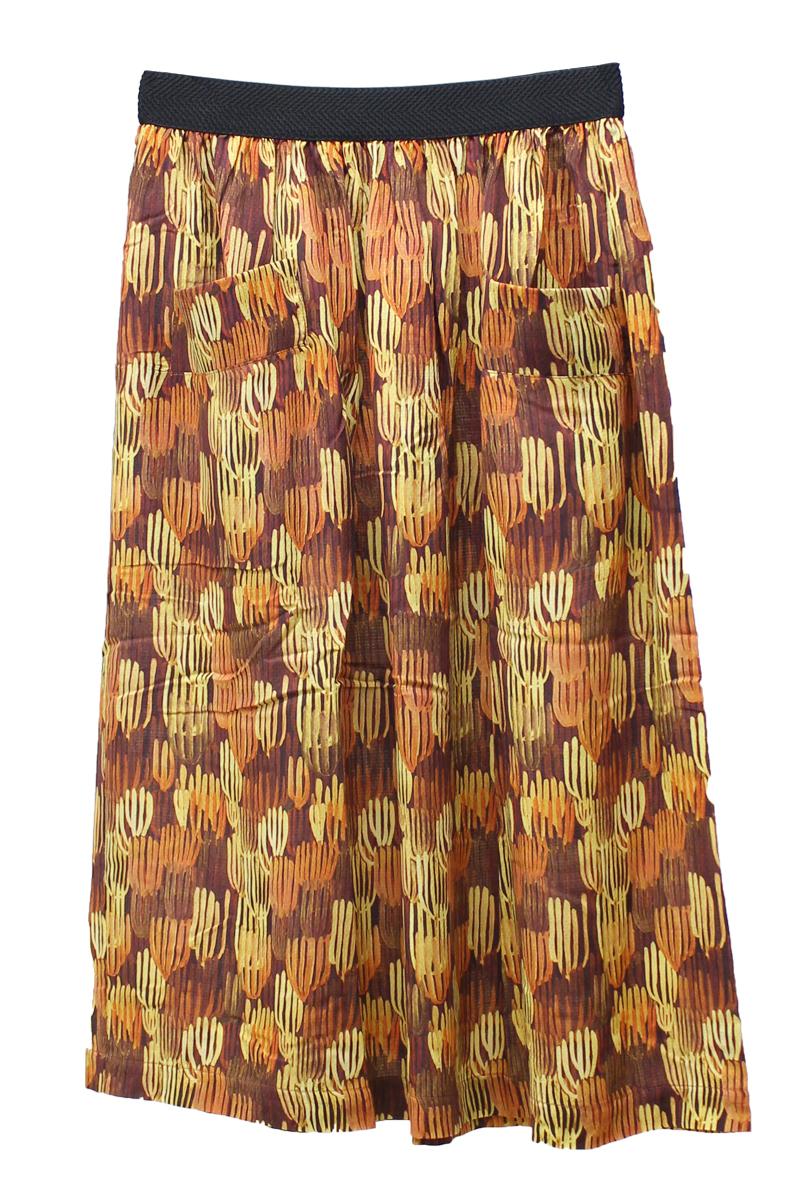 MAISON Olga ビスコースサボテンプリントフレアースカート