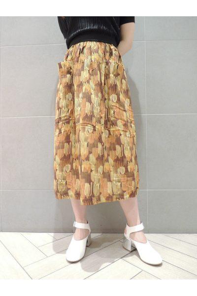 MAISON Olga 【50%OFF】ビスコースサボテンプリントフレアースカート