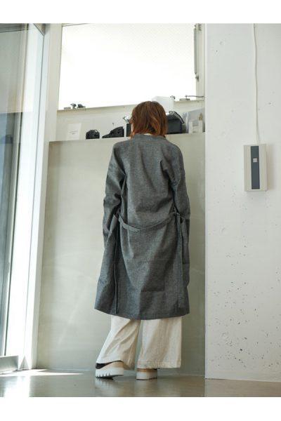 MAISON Olga 【40%OFF】コットンリネンベルト付きボタンレスコート