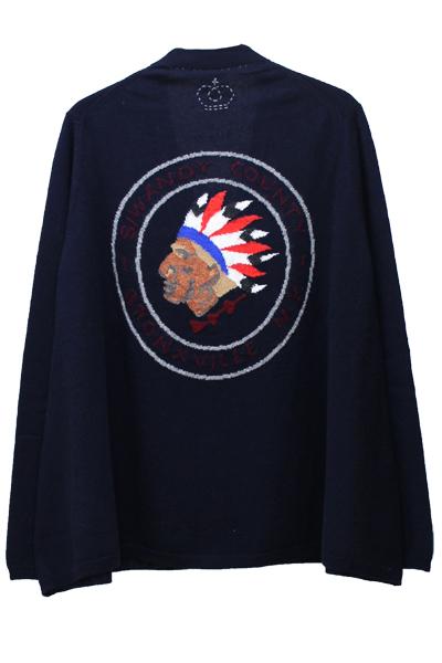 QUEENE and BELLE バックインディアン裾フレアカーディガン 【MOGGIE CO-OP別注】