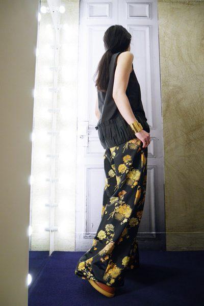 SARA LANZI 【40%OFF】裾タック切替ノースリーブトップス