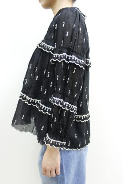 ISABEL MARANT ETOILE 刺繍×ティアードフリル長袖ブラウス