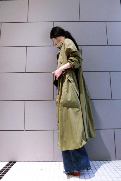 ISABEL MARANT ETOILE 【POINT×10】ナイロンスタンドカラーロングコート