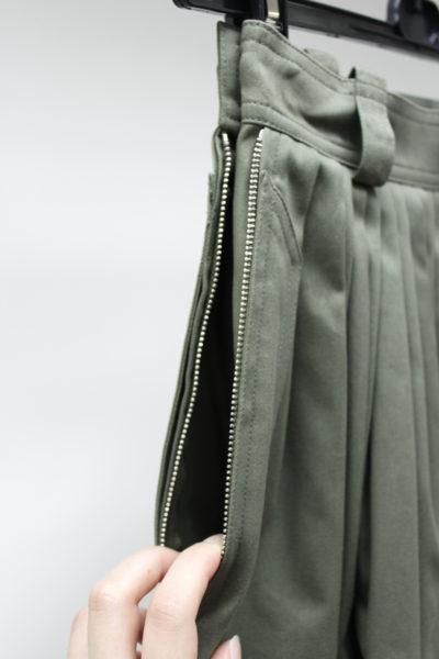 GOLDEN GOOSE DELUXE BRAND コットンウールタックロングスカート [17AW]