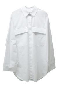 MAISON MARGIELA コットンフロントポケット長袖ビックシャツ[17AW]