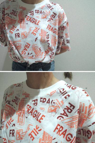 MM6 MAISON MARGIELA FRAGILE Tシャツ