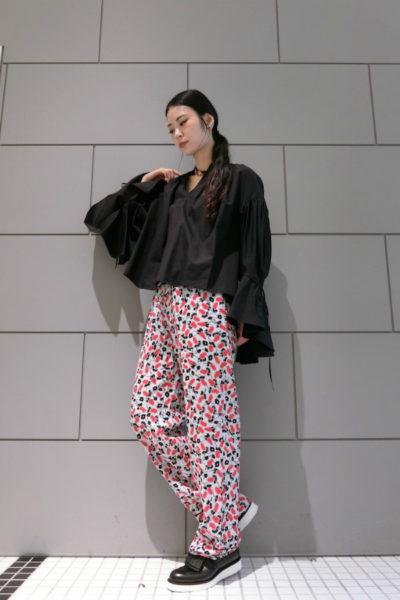 MARNI レーヨン花柄イージーパンツ [17AW]
