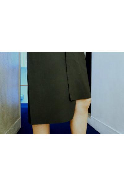 Lutz Huelle 【50%OFF】ストレッチレーヨンアシンメトリーワンピース