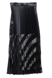 OFF-WHITE 裾バイアスストライププリーツスカート[17AW]