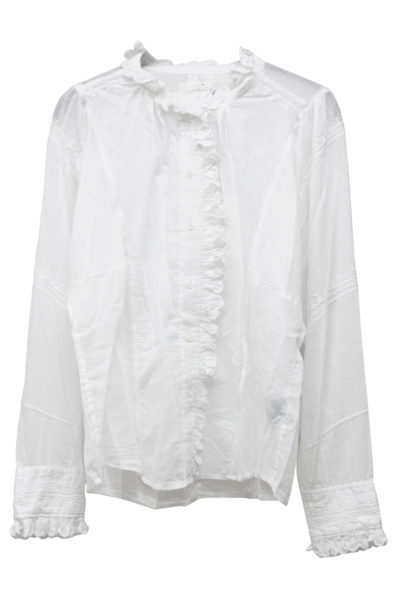 ISABEL MARANT ETOILE 【40%OFF】刺繍フリルネック長袖シャツ [17AW]
