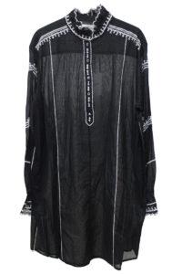 ISABEL MARANT ETOILE 刺繍フリルネックミニワンピース [17AW]