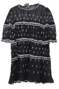 ISABEL MARANT ETOILE 【40%OFF】刺繍ティアード半袖ミニワンピース [17AW]
