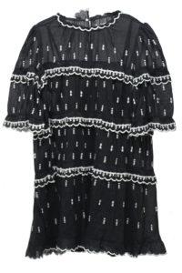 ISABEL MARANT ETOILE [V]【50%OFF】刺繍ティアード半袖ミニワンピース