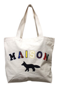 MAISON KITSUNÉ カラフルロゴ×FOXトートバッグ [17AW]