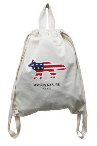 MAISON KITSUNÉ アメリカFOXキャンバスバックパック [17AW]