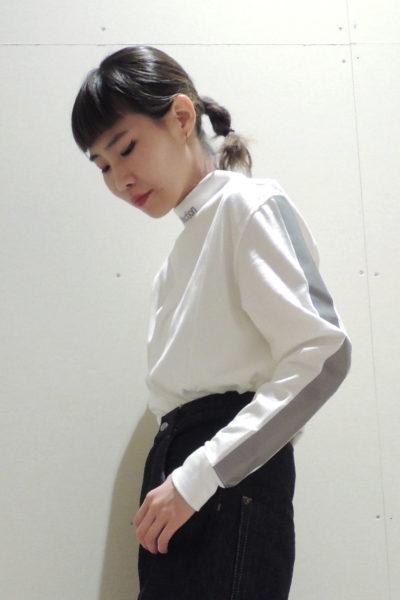 MARCOMONDE Reflection刺繍ハイネック長袖カットソー [17AW]
