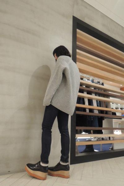 ACNE リブVネックワイドニット【17AW】