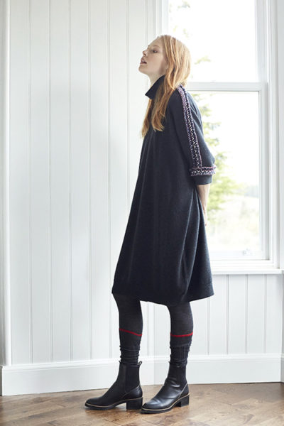 QUEENE and BELLE テープ付タートルネックワンピース [17AW]