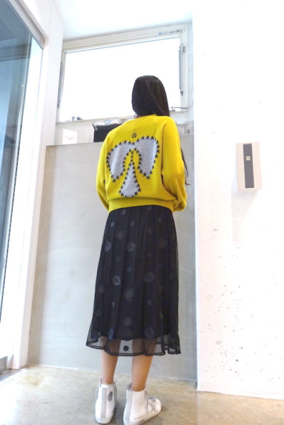 QUEENE and BELLE チュールフラワーギャザースカート [17AW]
