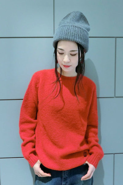 QUEENE and BELLE ウールプレーンニット [17AW]