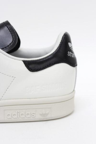 adidas by RAF SIMONS レザーローカットスニーカー(STAN SMITH)(WHITE×BLACK) [17AW]