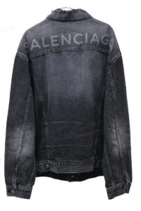 BALENCIAGA V【30%OFF】USED加工バックロゴGジャン [17AW]