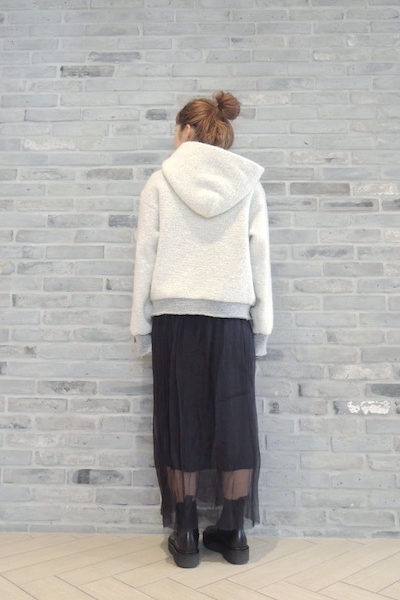 STAND ALONE 【POINT×10】ボアプルオーバーフーディー  [17AW]